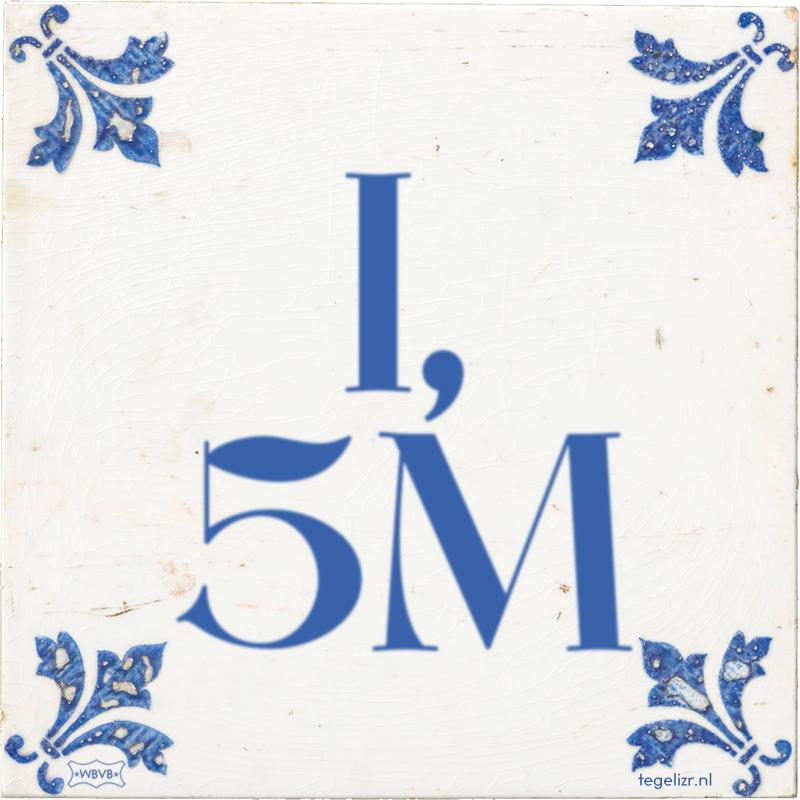 1, 5M - Online tegeltjes bakken