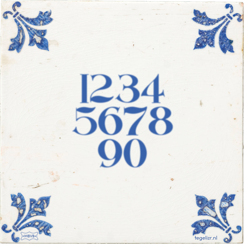 1234 5678 90 - Online tegeltjes bakken