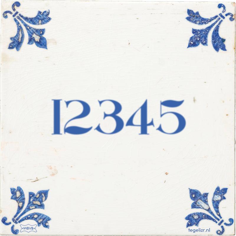 12345 - Online tegeltjes bakken