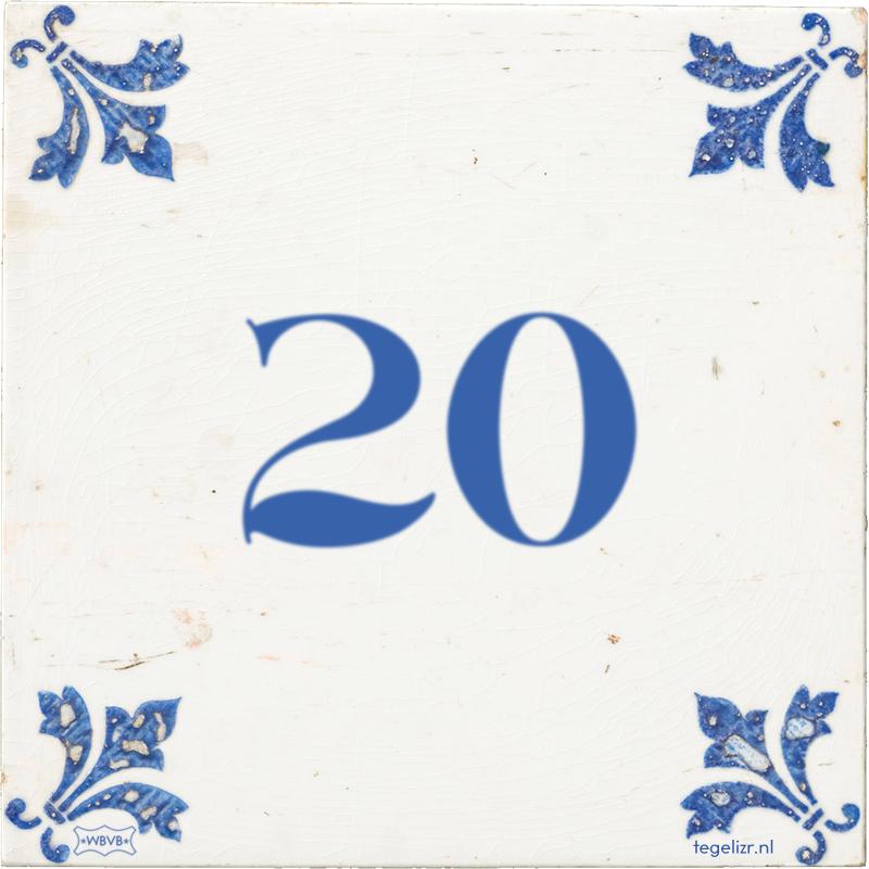 20 - Online tegeltjes bakken