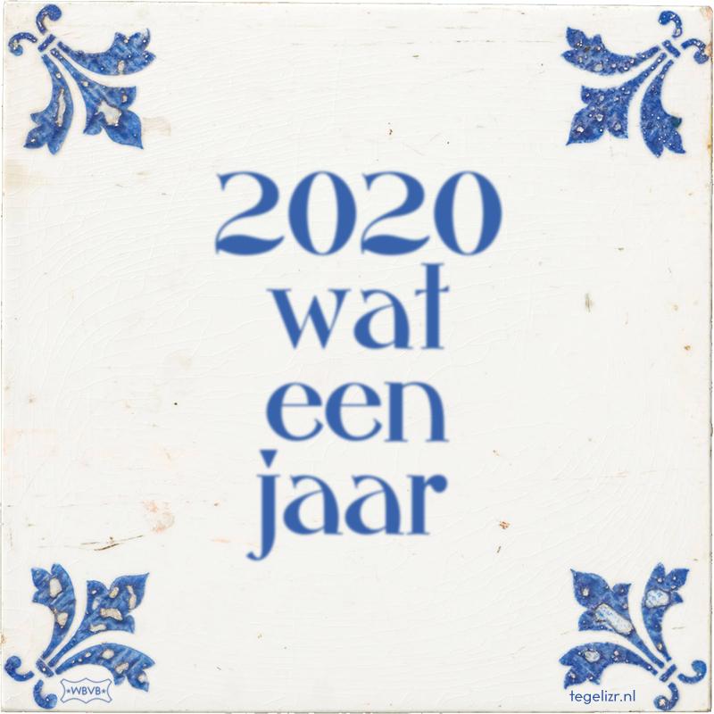 2020 wat een jaar - Online tegeltjes bakken