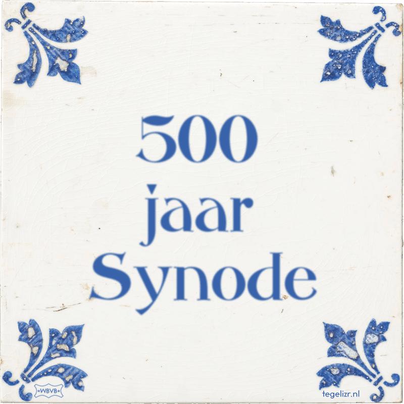 500 jaar Synode - Online tegeltjes bakken