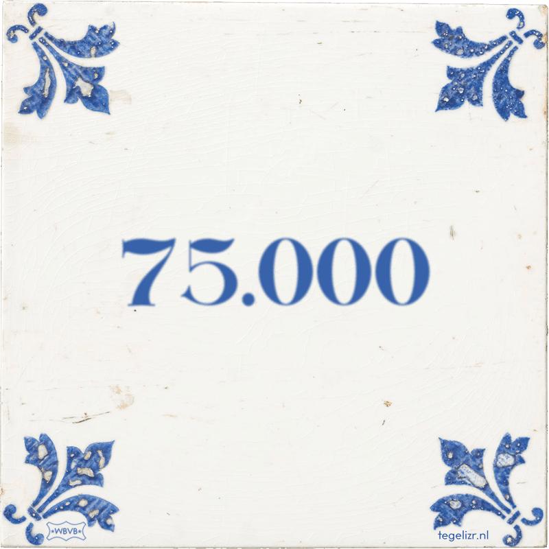 75.000 - Online tegeltjes bakken