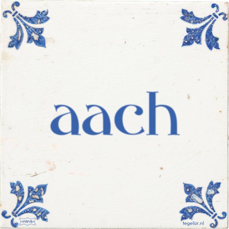 aach - Online tegeltjes bakken