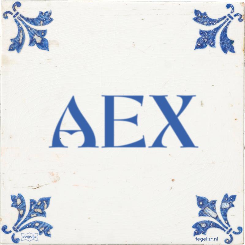 AEX - Online tegeltjes bakken