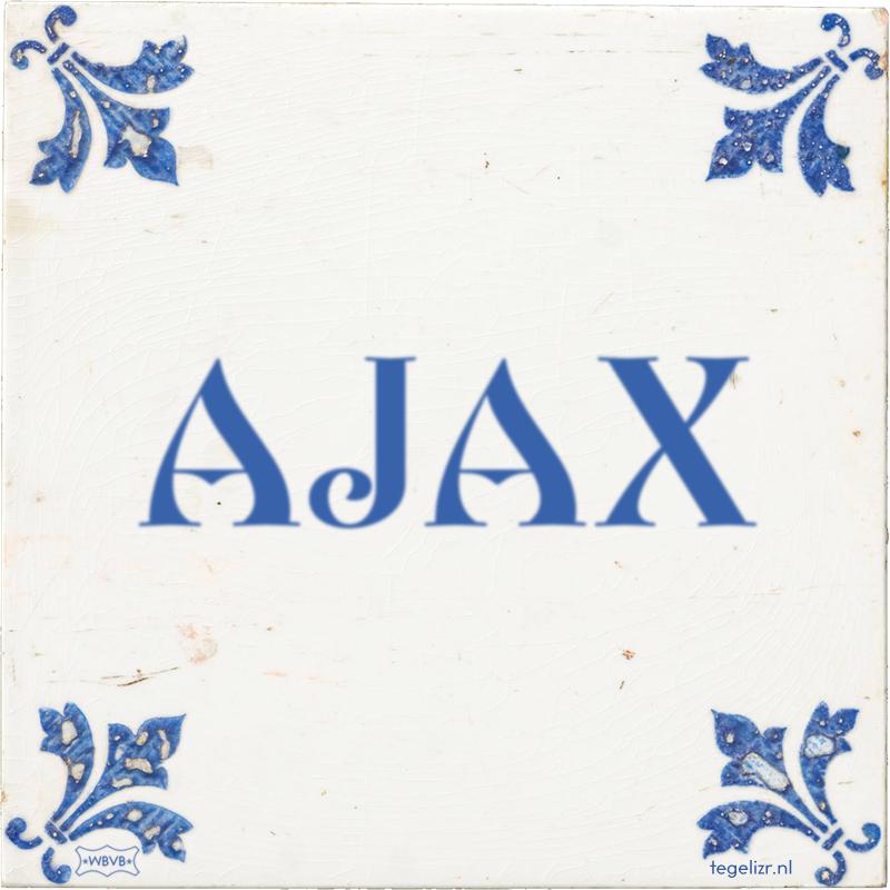 AJAX - Online tegeltjes bakken