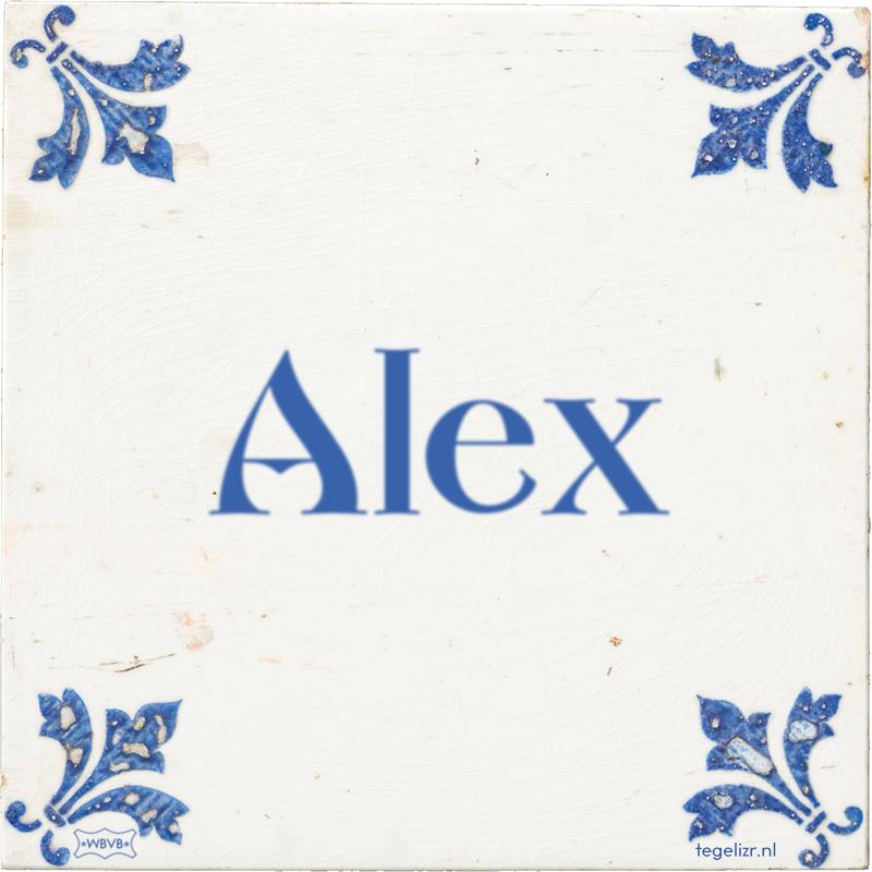 Alex - Online tegeltjes bakken