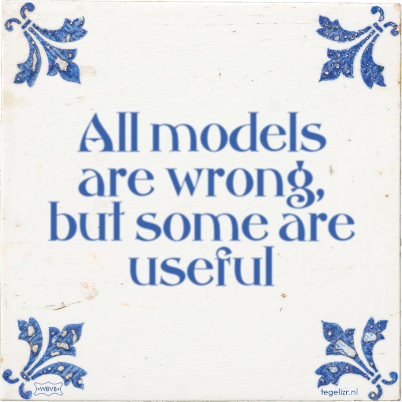 All models are wrong, but some are useful - Online tegeltjes bakken