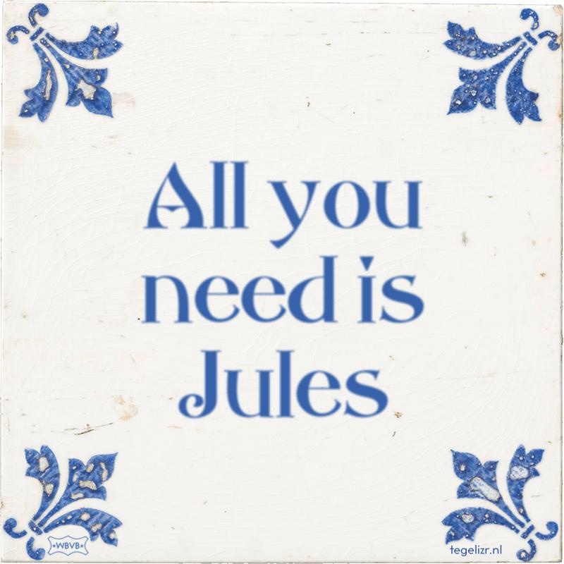 All you need is Jules - Online tegeltjes bakken
