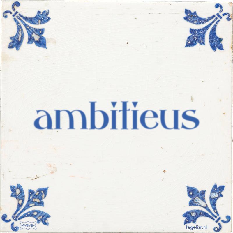 ambitieus - Online tegeltjes bakken