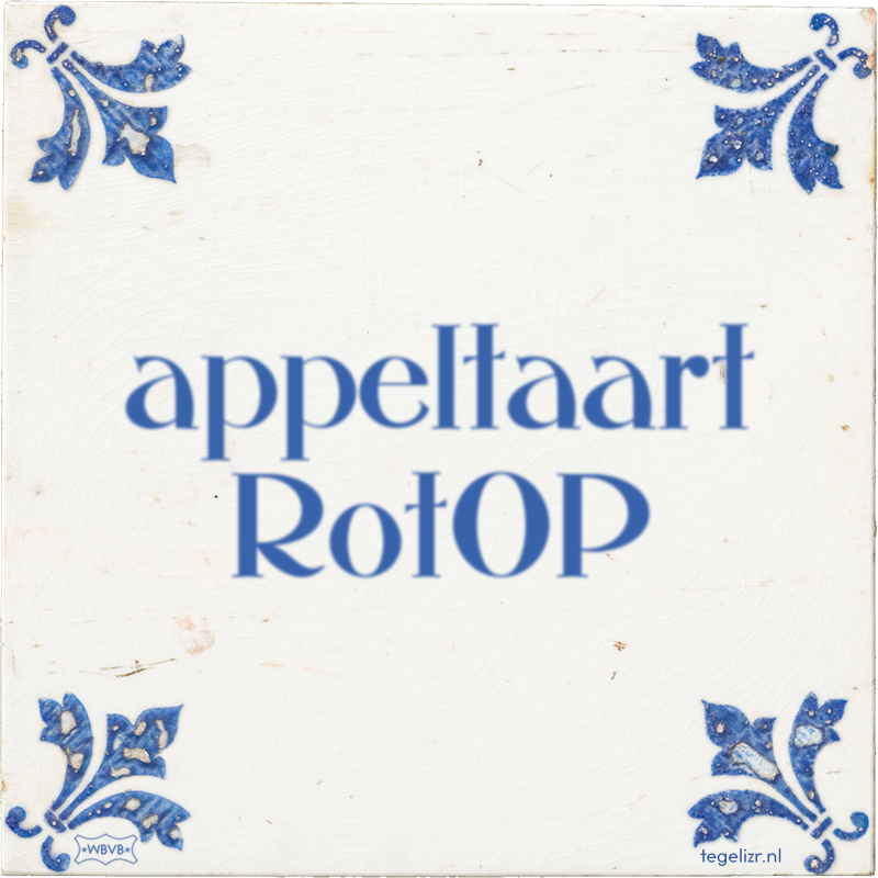 appeltaart RotOP - Online tegeltjes bakken