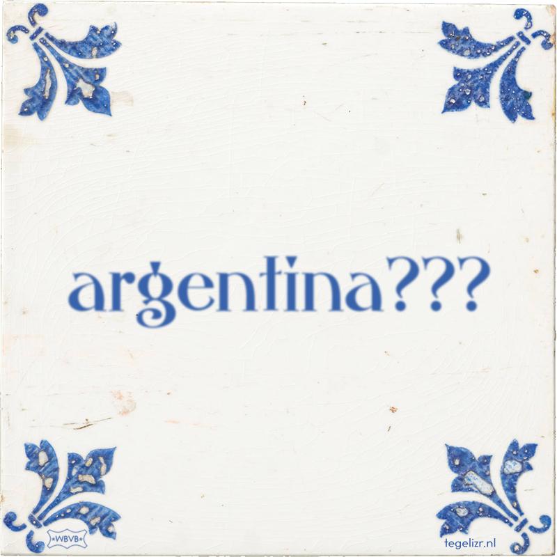 argentina??? - Online tegeltjes bakken