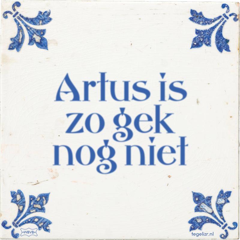 Artus is zo gek nog niet - Online tegeltjes bakken