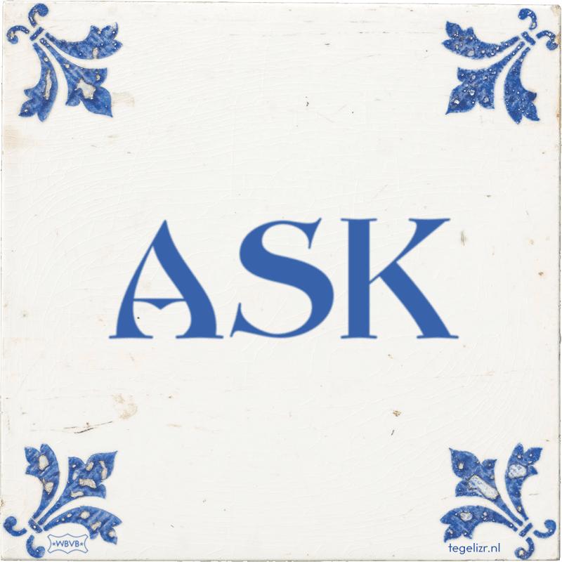 ASK - Online tegeltjes bakken