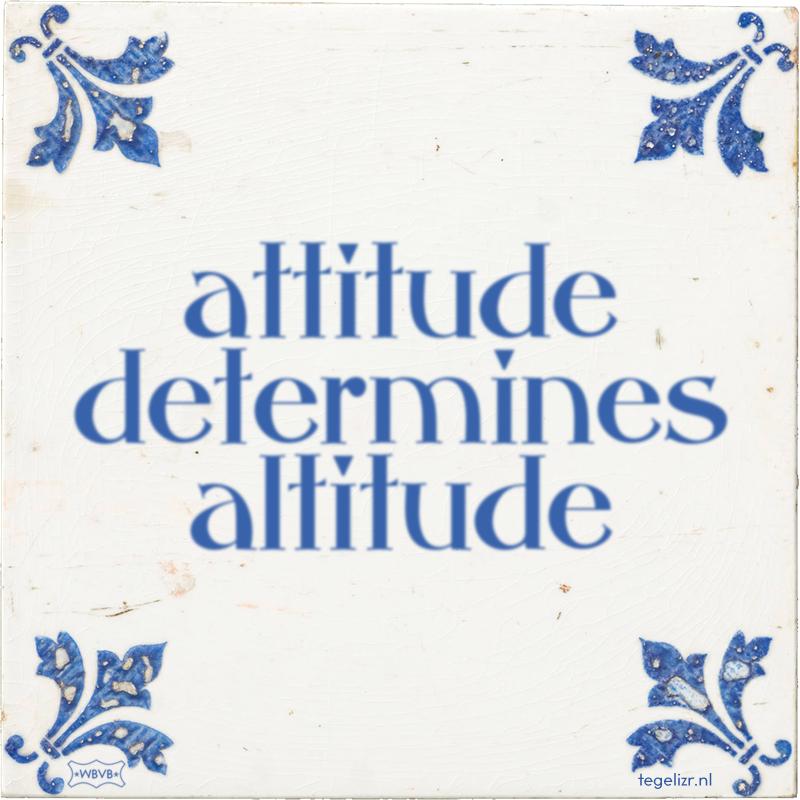 attitude determines altitude - Online tegeltjes bakken