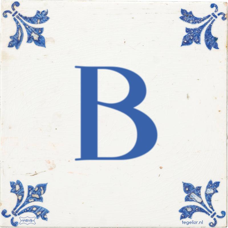 B - Online tegeltjes bakken