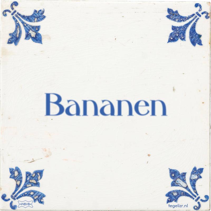 Bananen - Online tegeltjes bakken