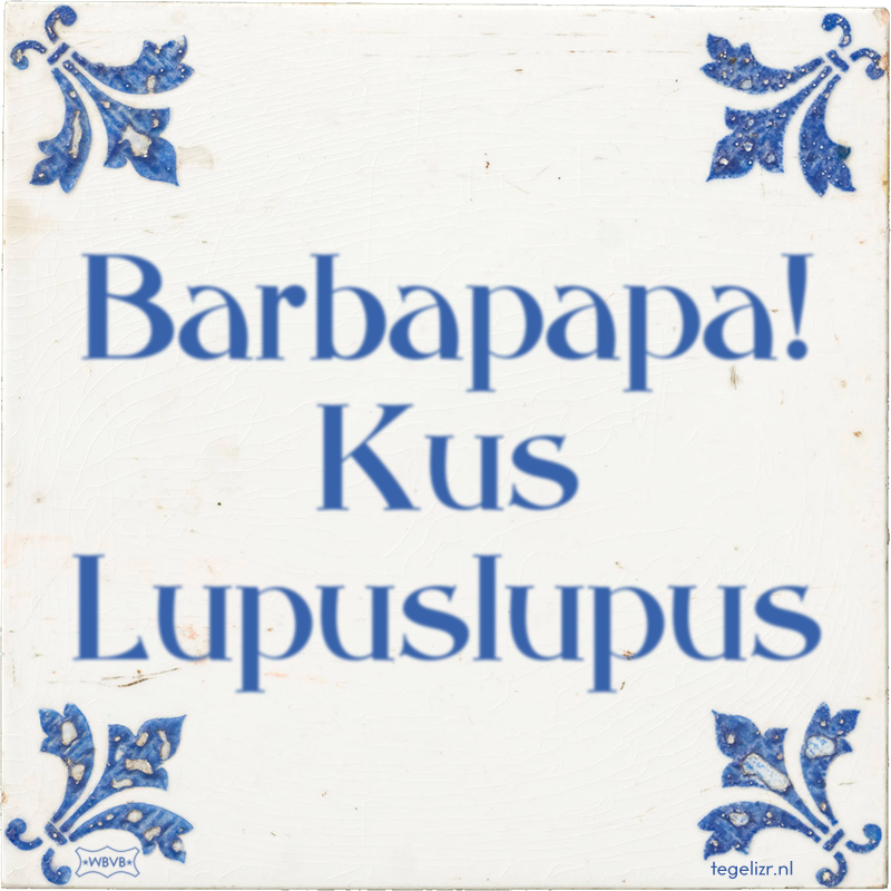 Barbapapa! Kus Lupuslupus - Online tegeltjes bakken