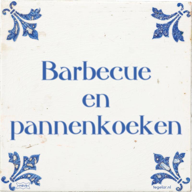 Barbecue en pannenkoeken - Online tegeltjes bakken