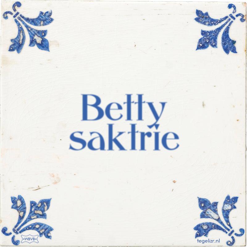 Betty saktrie - Online tegeltjes bakken