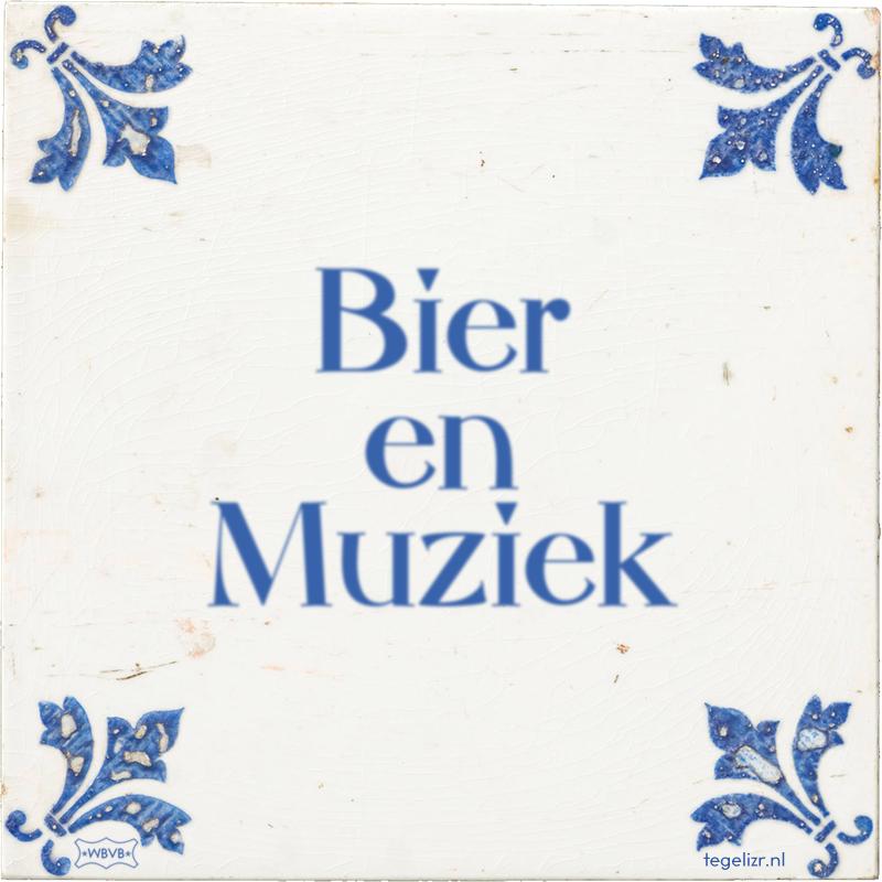 Bier en Muziek - Online tegeltjes bakken
