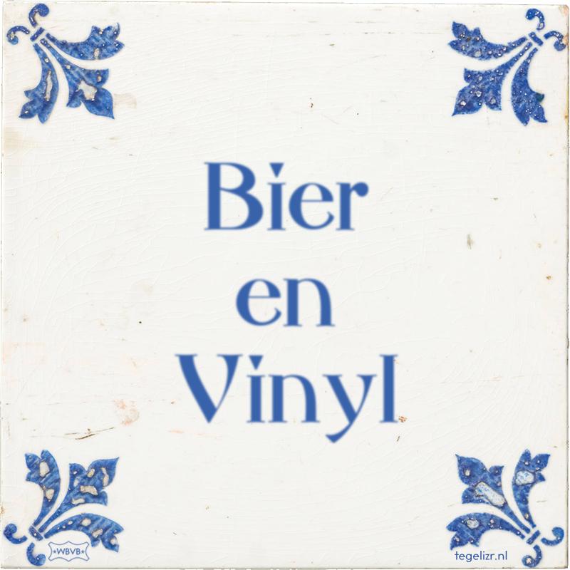 Bier en Vinyl - Online tegeltjes bakken