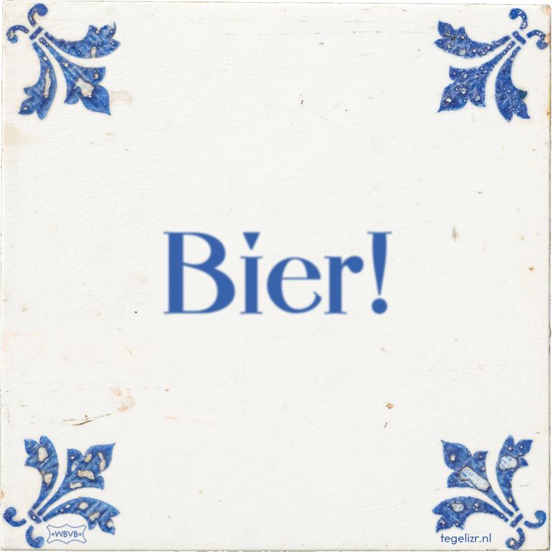 Bier! - Online tegeltjes bakken