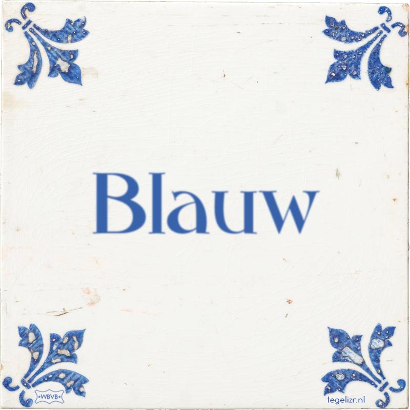 Blauw - Online tegeltjes bakken