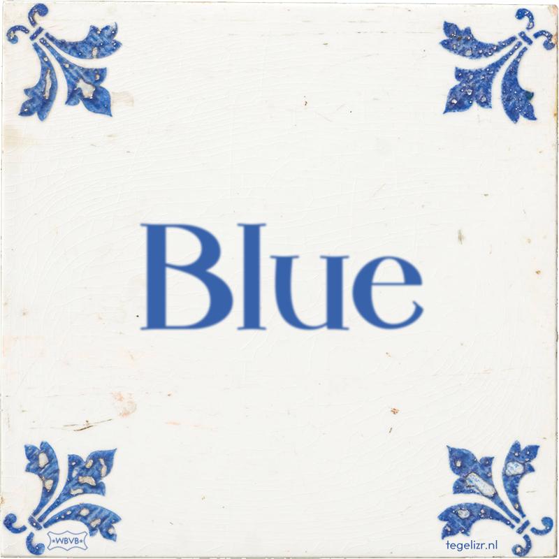 Blue - Online tegeltjes bakken