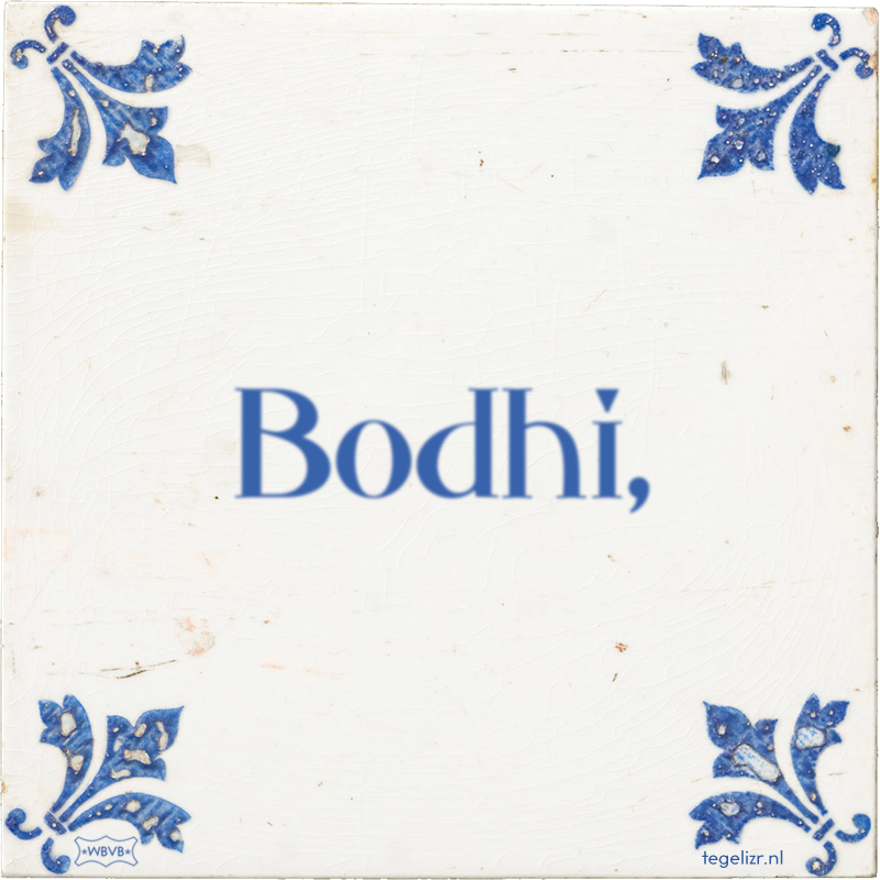 Bodhi, - Online tegeltjes bakken