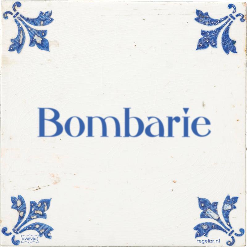 Bombarie - Online tegeltjes bakken