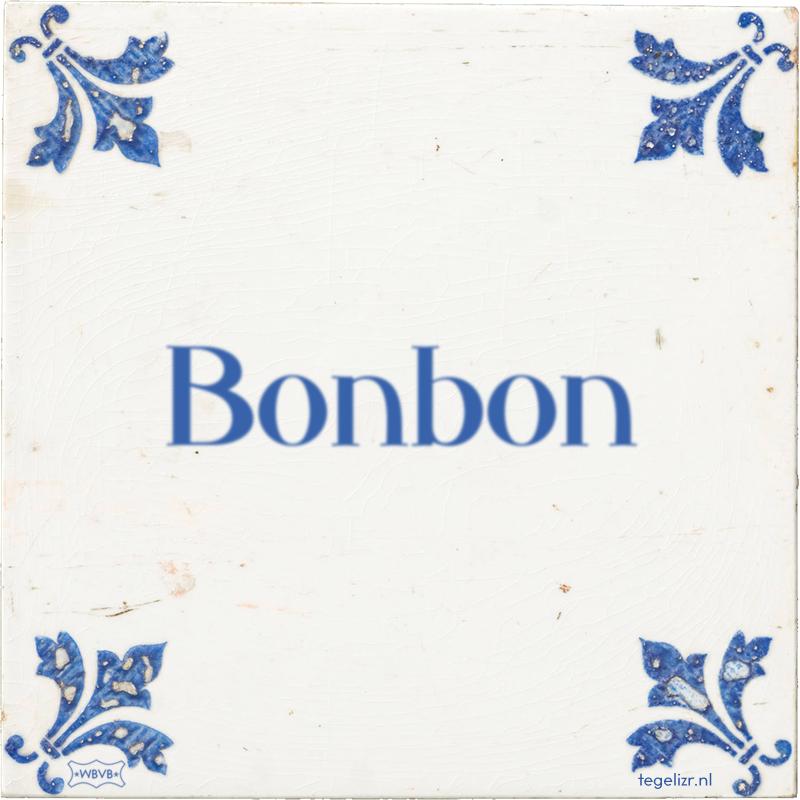 Bonbon - Online tegeltjes bakken