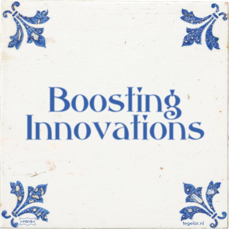 Boosting Innovations - Online tegeltjes bakken