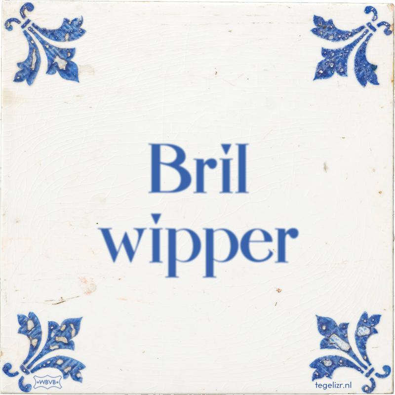 Bril wipper - Online tegeltjes bakken