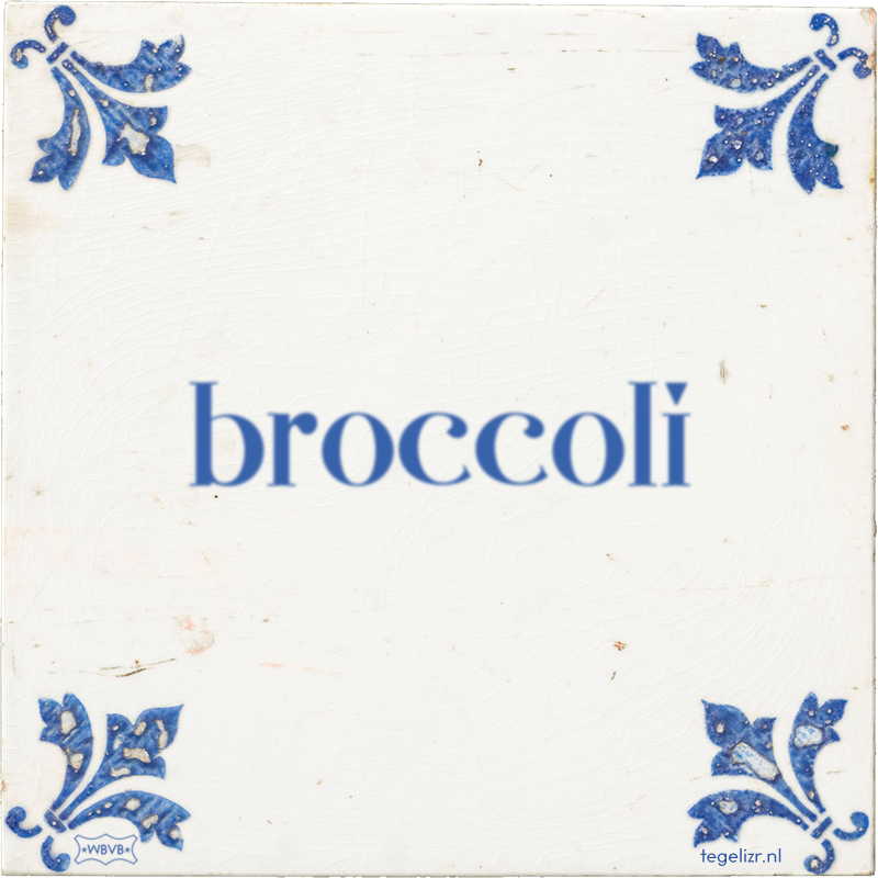 broccoli - Online tegeltjes bakken