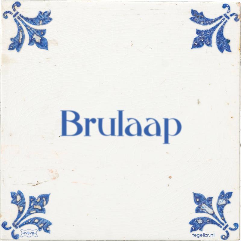 Brulaap - Online tegeltjes bakken