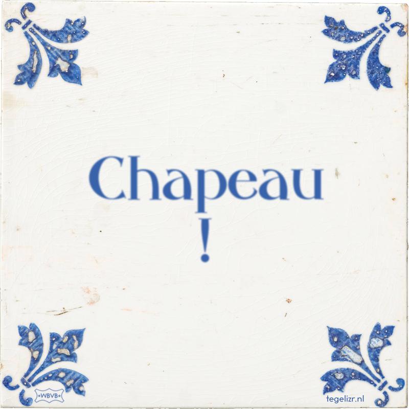 Chapeau ! - Online tegeltjes bakken