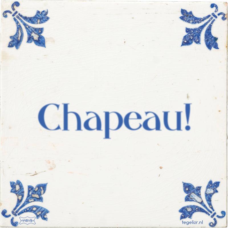 Chapeau! - Online tegeltjes bakken