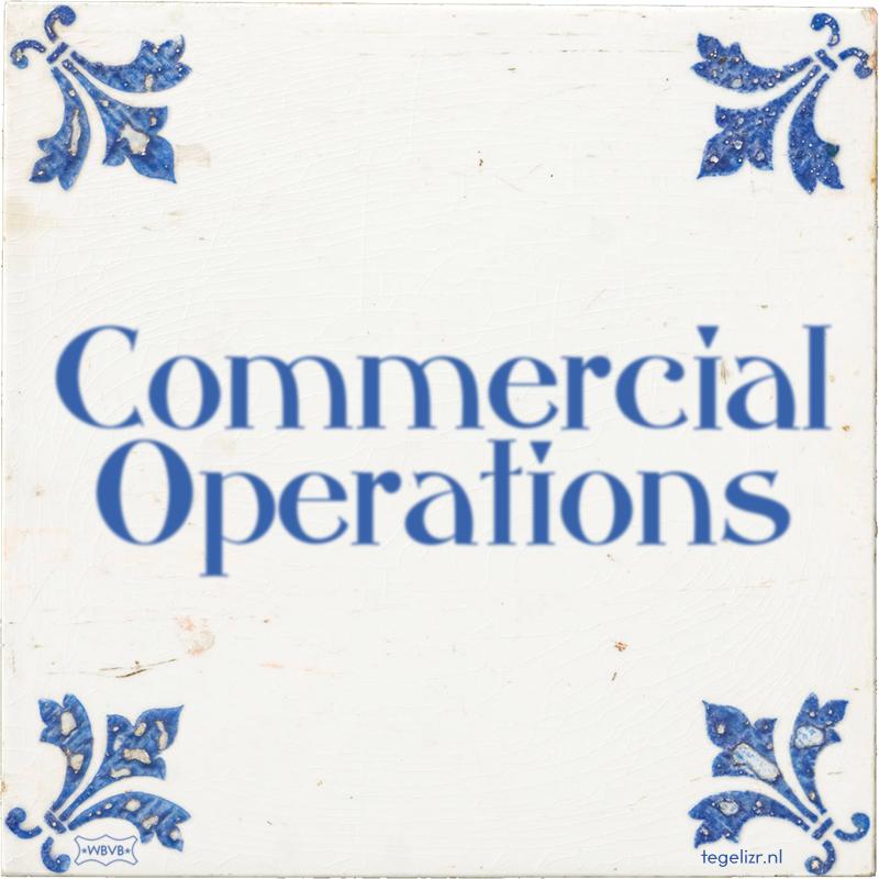 Commercial Operations - Online tegeltjes bakken