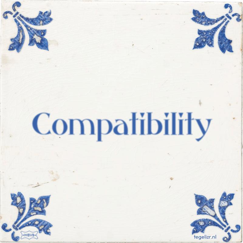 Compatibility - Online tegeltjes bakken
