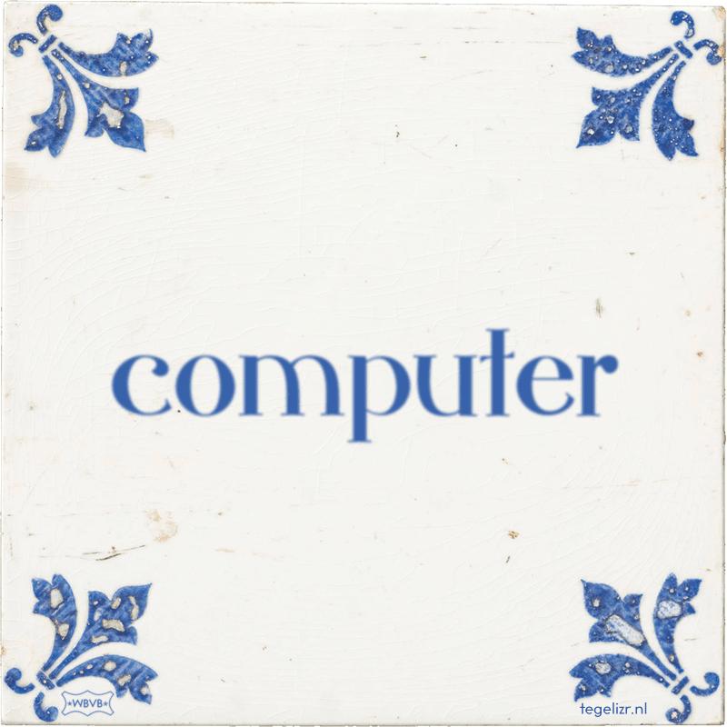 computer - Online tegeltjes bakken