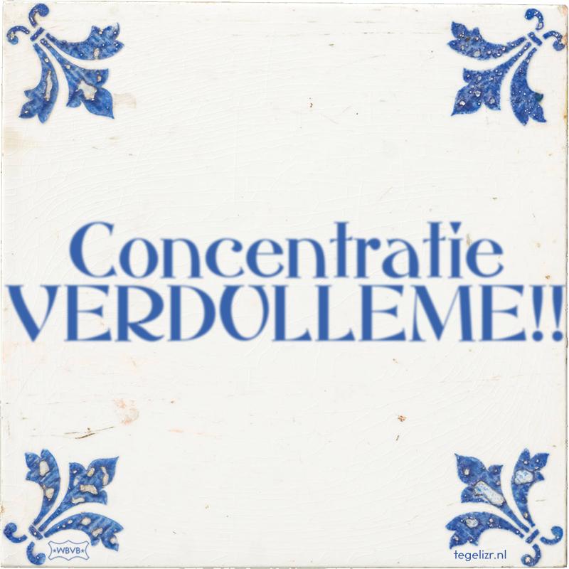 Concentratie VERDULLEME!! - Online tegeltjes bakken