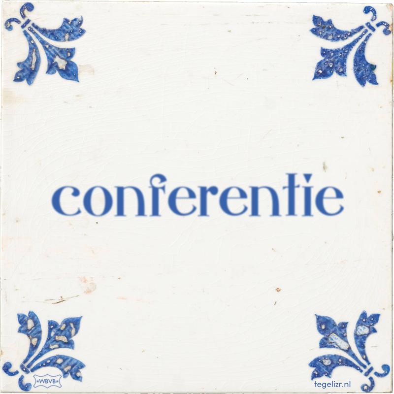 conferentie - Online tegeltjes bakken