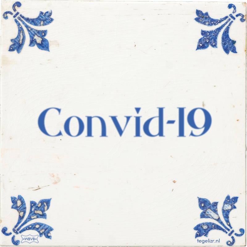 Convid-19 - Online tegeltjes bakken
