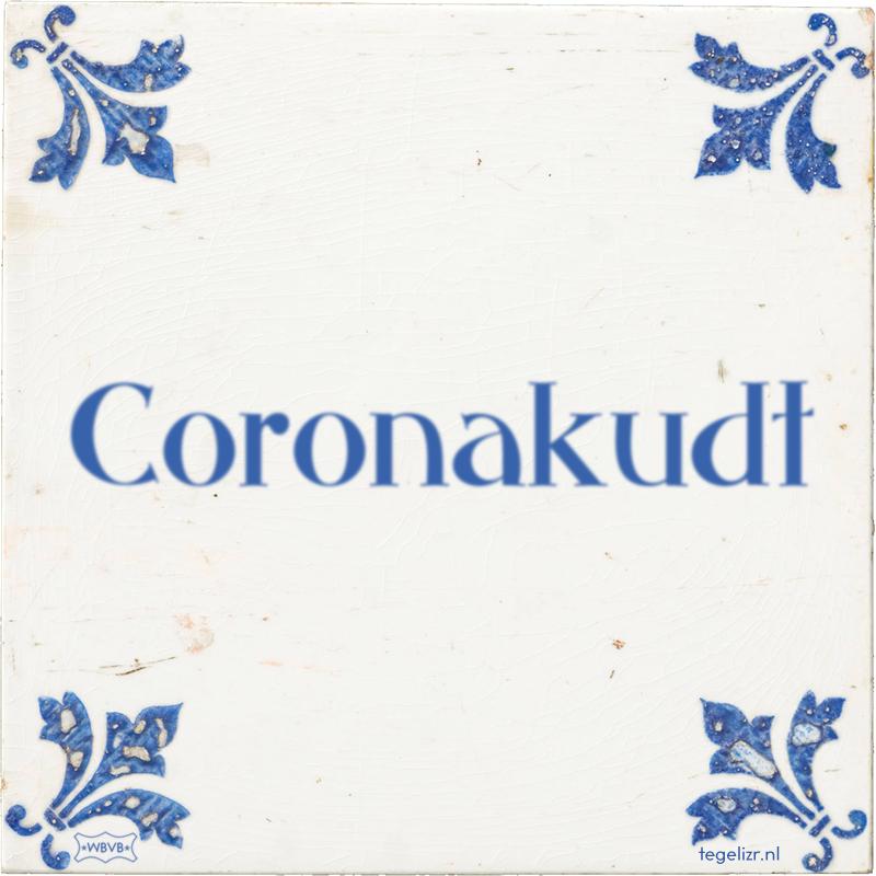 Coronakudt - Online tegeltjes bakken