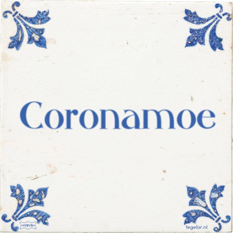 Coronamoe - Online tegeltjes bakken