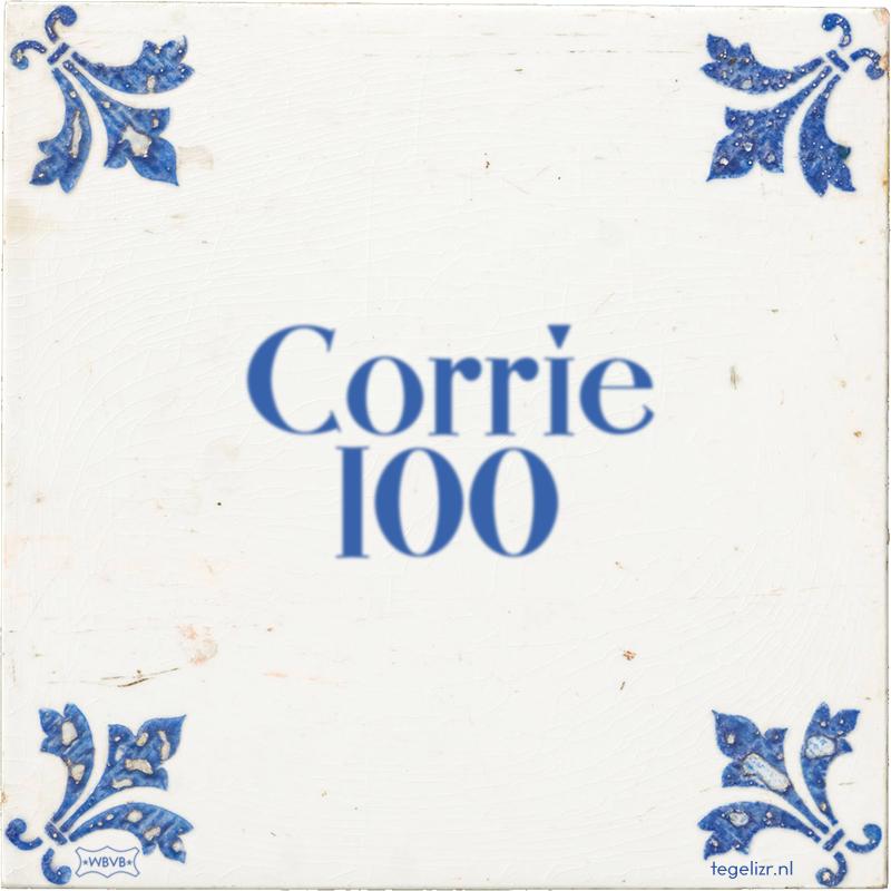 Corrie 100 - Online tegeltjes bakken