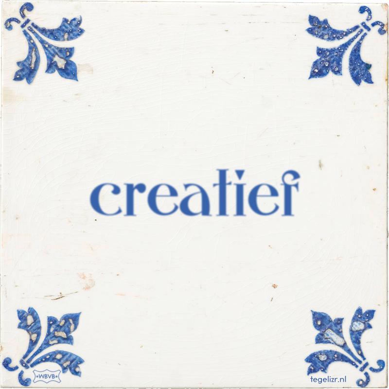 creatief - Online tegeltjes bakken