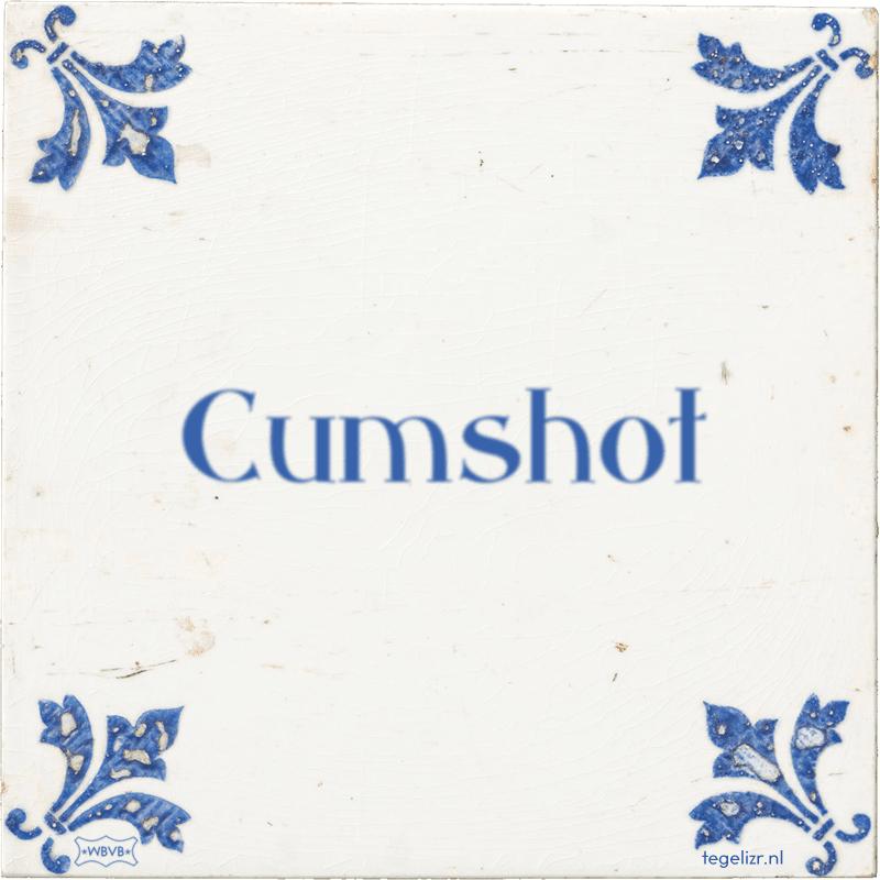 Cumshot - Online tegeltjes bakken
