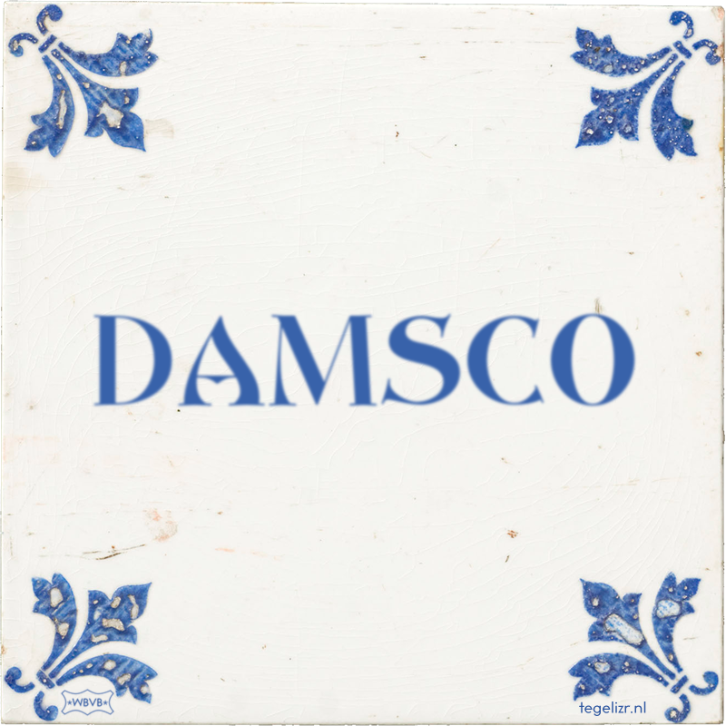 DAMSCO - Online tegeltjes bakken